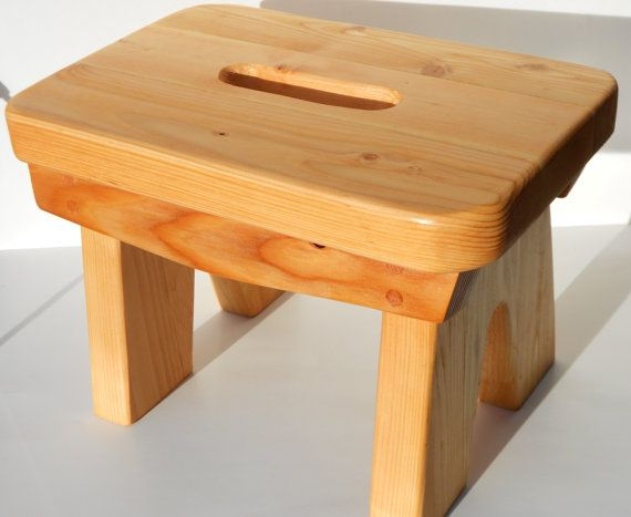Awesome Heavy Duty Wood Step Foot Stool Or Plant Stand By Creativecarmelina Interior Chair Design Creativecarmelinacom