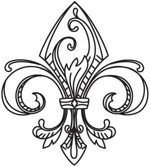 Vintage Fleur De Lis Design Uth4515 From Urbanthreads Com 1 00 With Images Embroidery Designs Embroidery Patterns Vintage Urban Threads