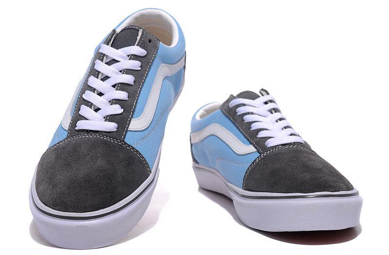 e46e86e61e Vans Suede N Canvas Old Skool Grey-Blue  Vans