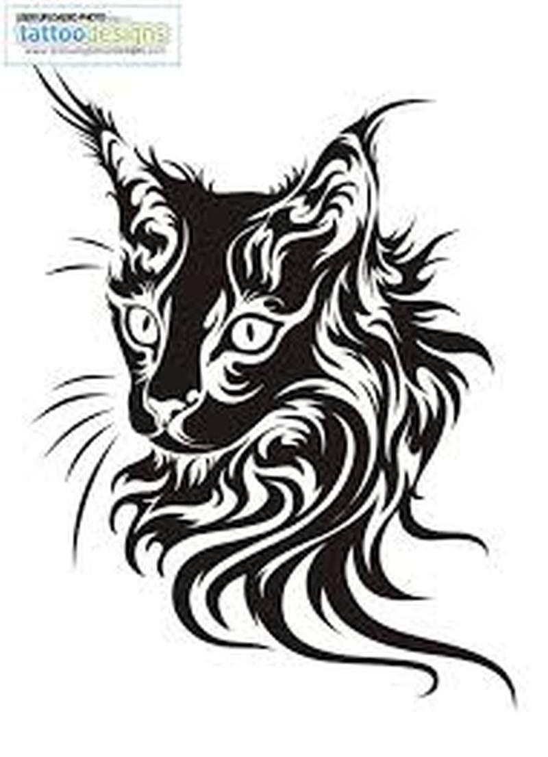 Tigger tattoo designs - Cat Tattoo Designs Another Tribal Cat Tattoo Design Tattoos Book