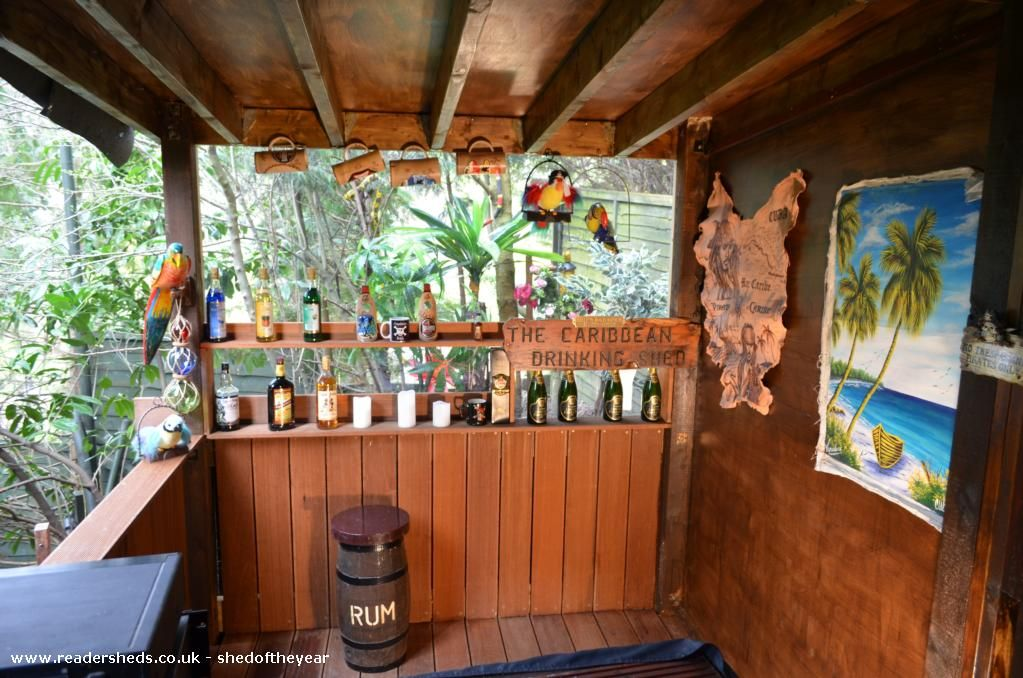 Pirate Retreat, Pub Shed from GARDEN #shedoftheyear @unclewilco