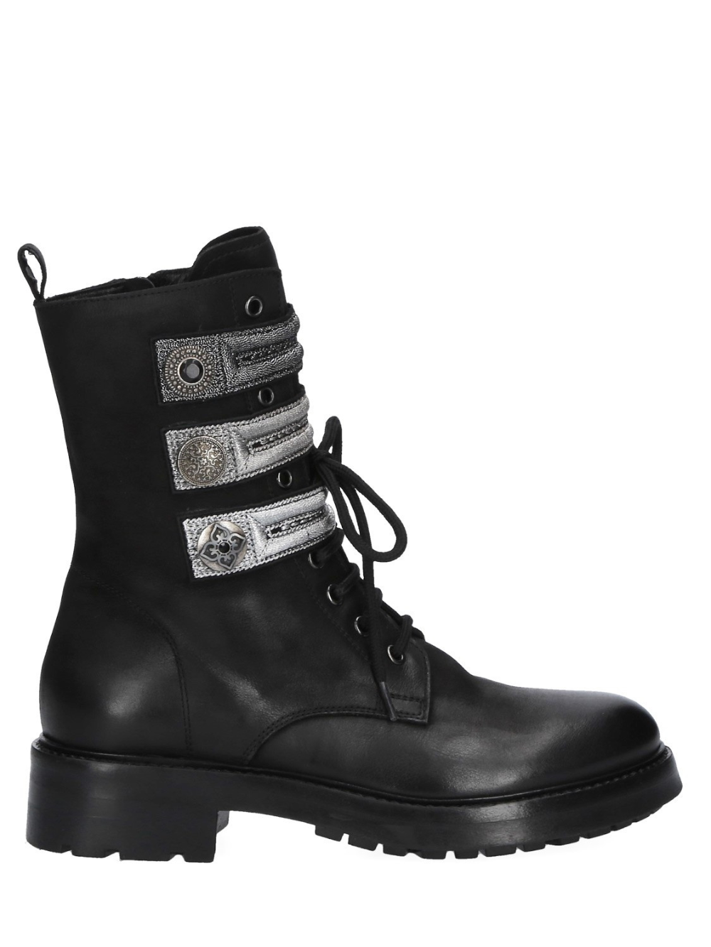Leather Laced Ankle Boots | Skor