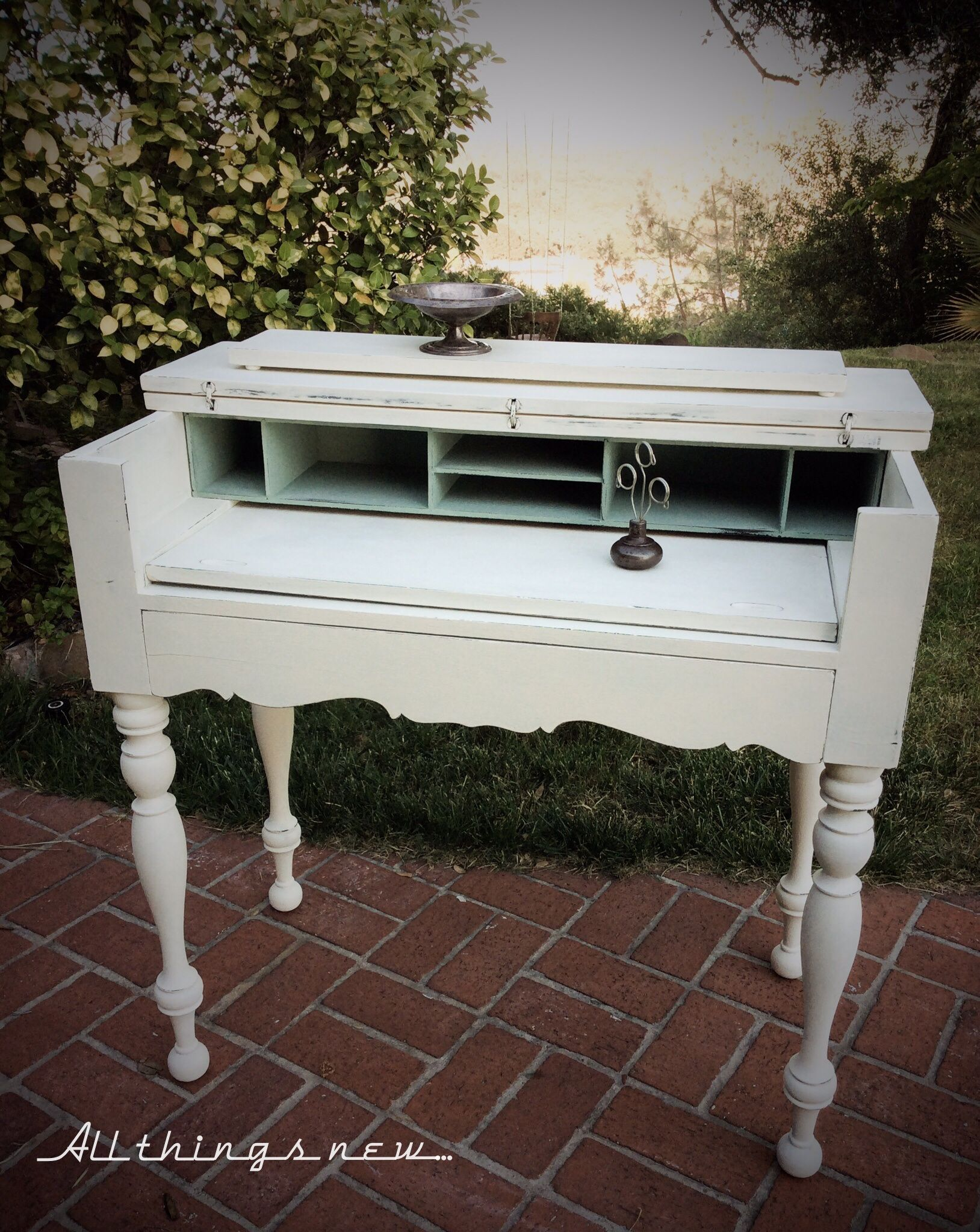 Lovely 1920u0027s Spinet Desk painted in ASCPu0027s