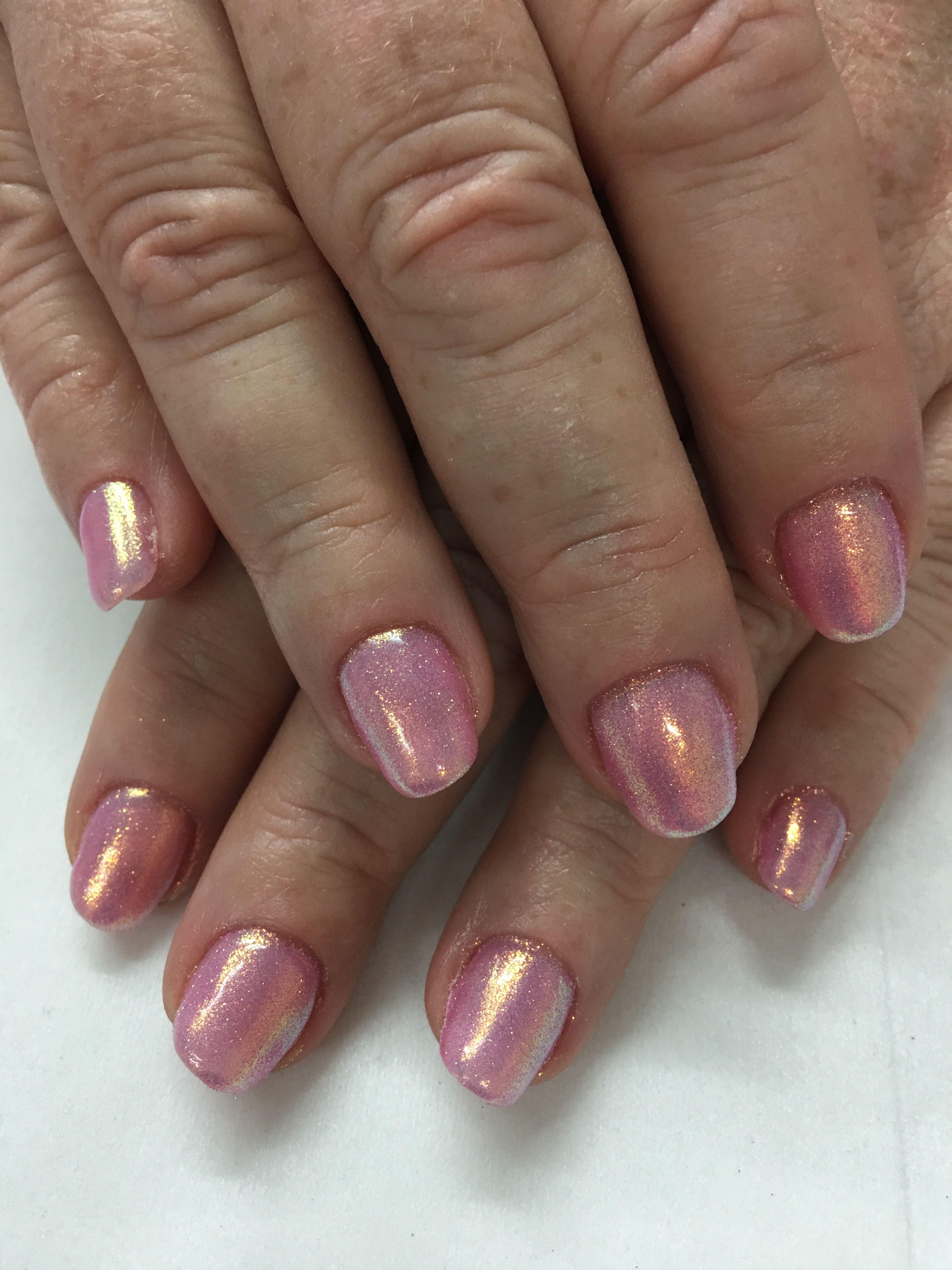 Pretty pink Indigo Pink Mermaid Unicorn powder Gel Nails | Gel Nail ...