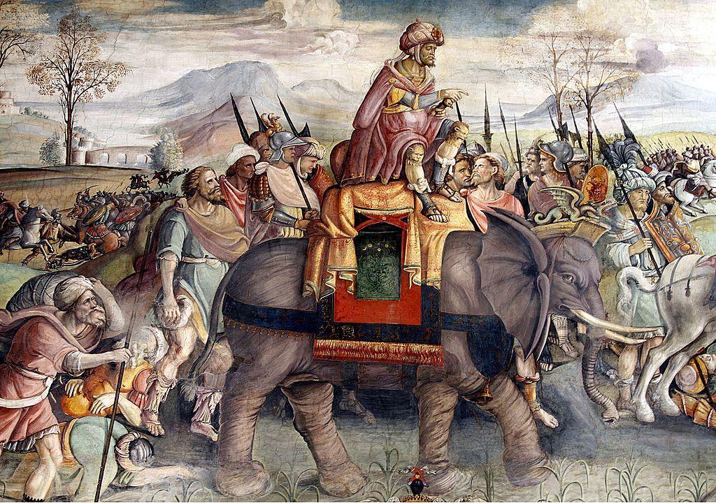 Hannibal in Italy by Jacopo Ripanda - Sala di Annibale - Palazzo dei Conservatori - Musei Capitolini - Rome 2016 (2) - Hannibal - Wikipedia