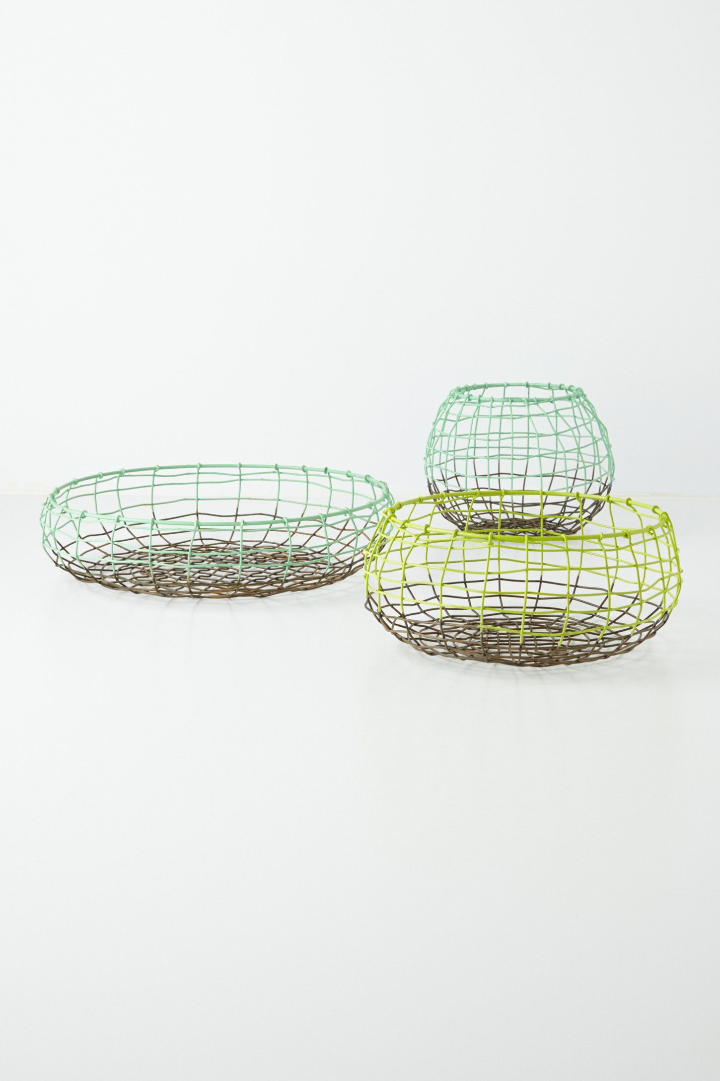 Wire Basket Trio - Anthropologie.com | Stockpiled home | Pinterest ...