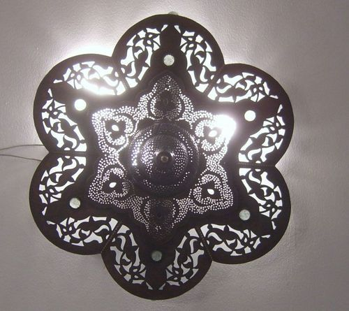 Moroccan Oxidize Flush Mount Ceiling Lamp Light Fixture | For the ...