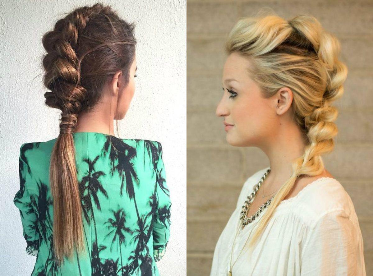 Risultati immagini per mohawk braids hairstyle pinterest