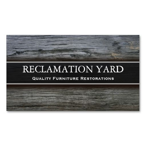 Reclamation Salvage Yard Business Card Zazzle Com Business
