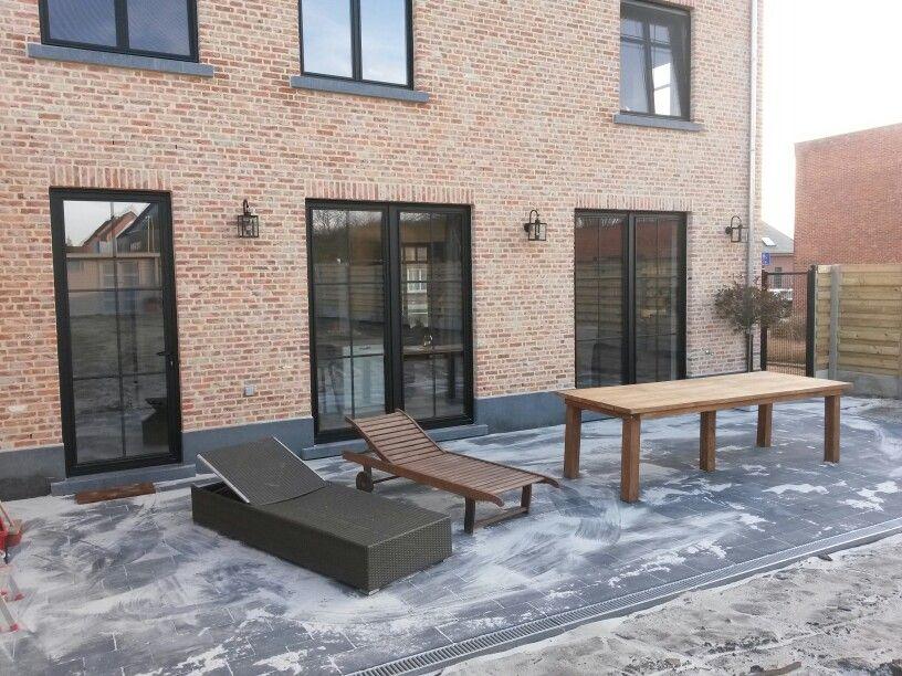 Landelijk, terras, buitenverlichting   Ramen en deuren   Pinterest   Ramen, Exterior and House