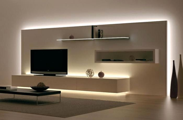 Dwelling Room Television Wall Concepts Distinctive Television Wall Self Construct Concepts