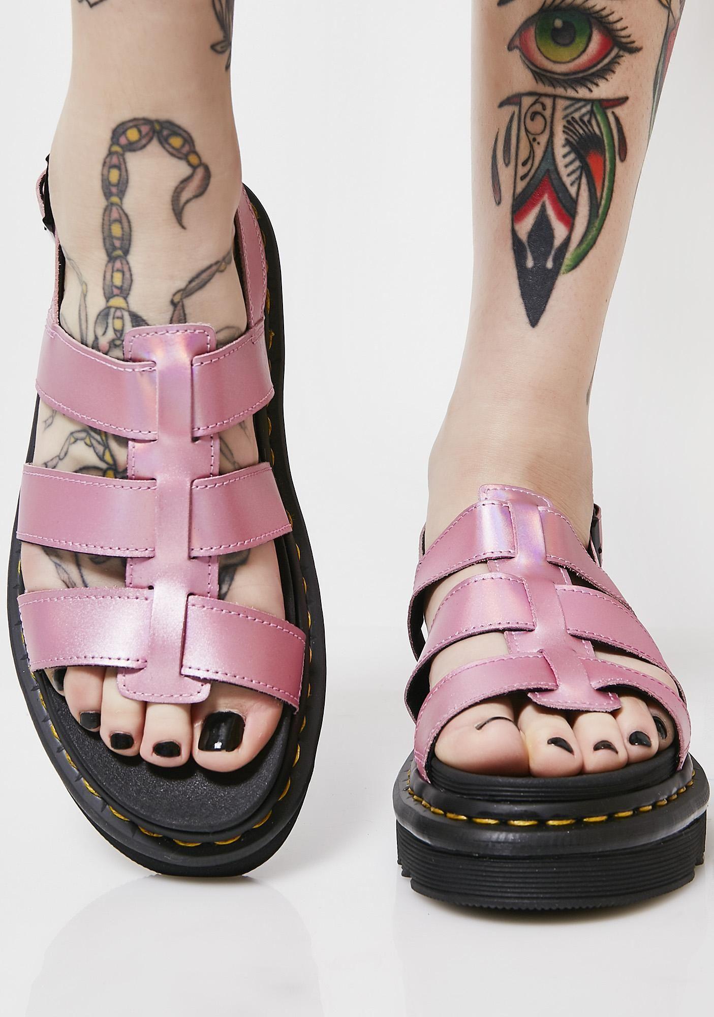 08a66831903 Dr. Martens Yelena Metallic Sandals