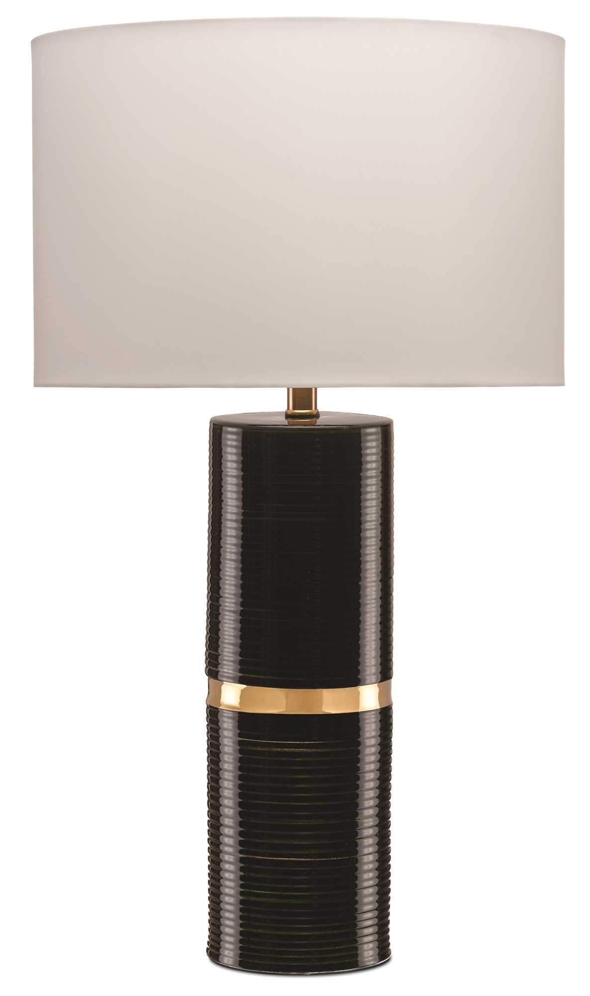 The Column Of The Enzo Table Lamp By Currey And Company Is