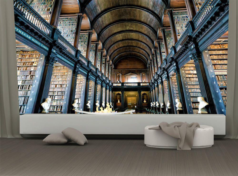 Old Library Trinity College Dublin Ireland Photo Wallpaper