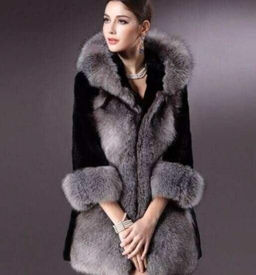 ladies fashion winter fur coat China ladies fashion winter