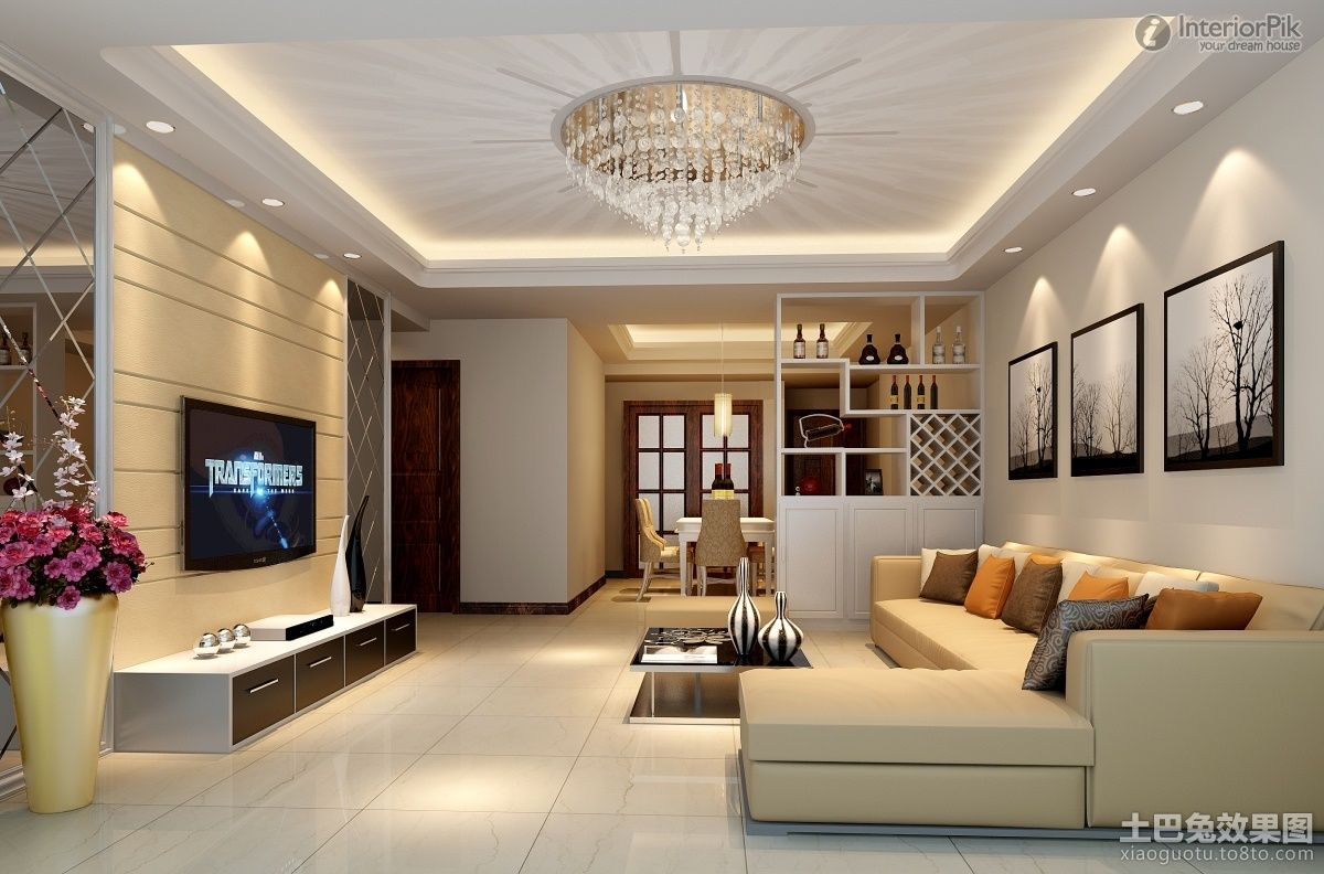 Ceiling design in living Room, shows more than enough