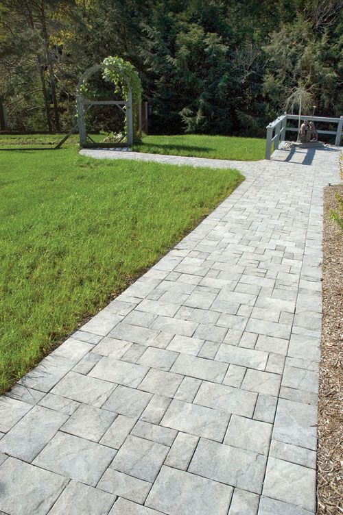 slate stone antique gray standard finish paver walkway