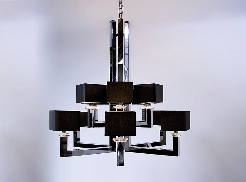 Christopher wray modern black chandelier lamp with small