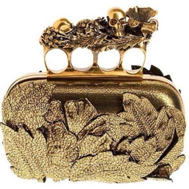 Alexander McQueen knuckle clutch.
