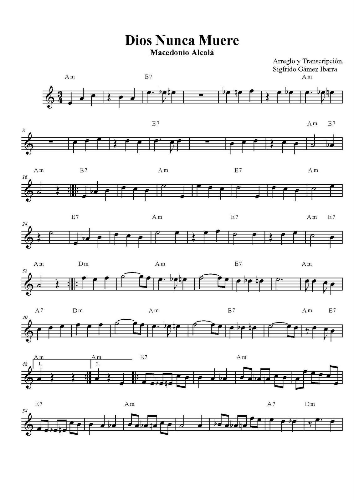 Dios Nunca Muere Page 1 Jpg 1131 1600 Partituras Circulo De Quintas Partituras De Saxofón