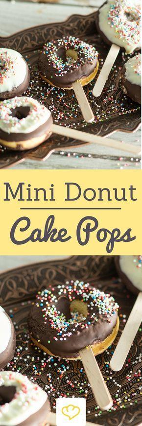 kleine donut cake pops selber machen rezept 18 geburtstag pinterest kuchen backen und. Black Bedroom Furniture Sets. Home Design Ideas
