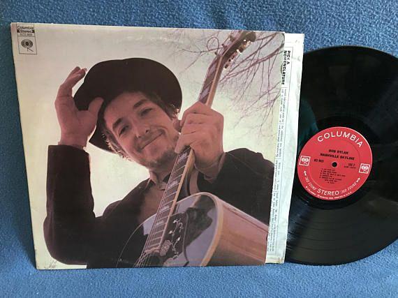 Rare Vintage Bob Dylan Nashville Skyline Vinyl Vinyl Sales Nashville Skyline Bob Dylan