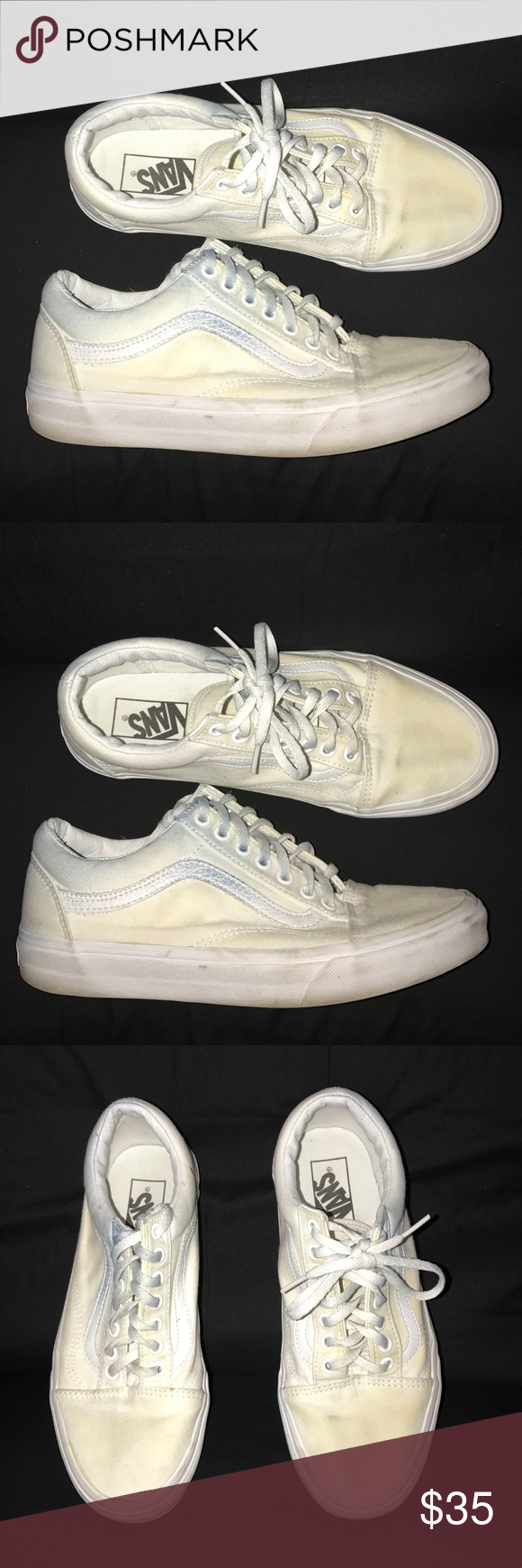 how to clean white vans shoes that