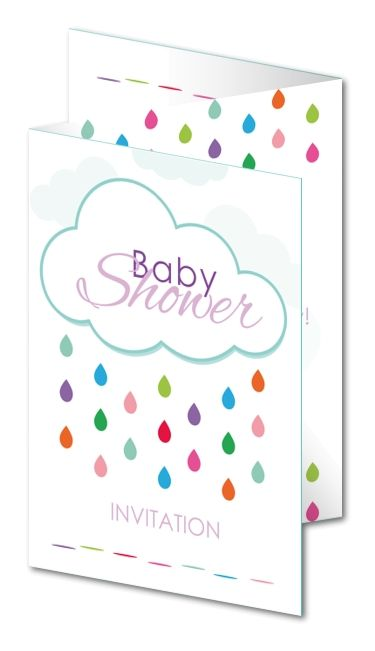 Baby Shower Invitations Colourful