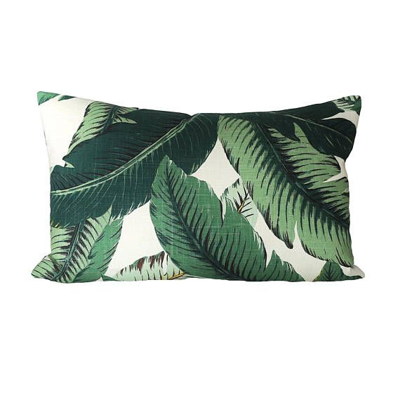 16X26 Pillow Insert Ready To Ship  15X24 Banana Palm Linen Pillow Cover Sized For
