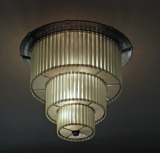 Art Deco ceiling fixture living room or entry