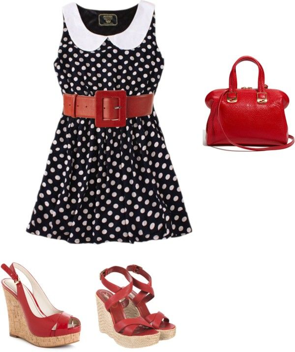 red and navy, created by lovemychocolab on Polyvore