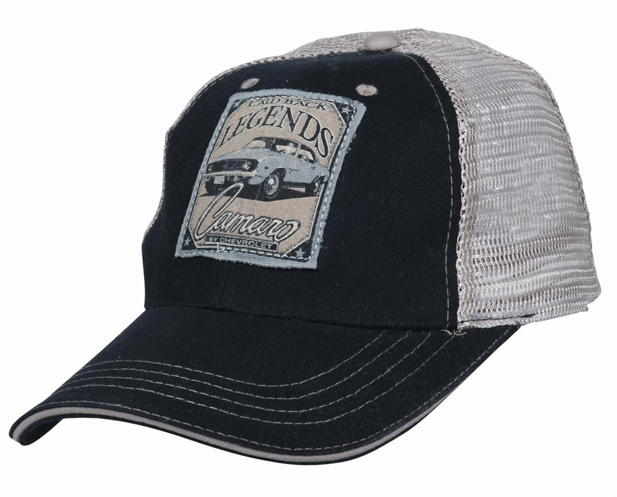 94ddd9e9864 1969 COPO Camaro Trucker Hat One Size Fits Most - Free Shipping on Orders  Over  99 at Genuine Hotrod Hardware
