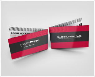 Folded business card show your folded business card templates with folded business card show your folded business card templates with style create a realistic wajeb Image collections