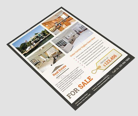 Discussing Real Estate Flyer Templates From Graphic River Microsoft - Microsoft office real estate flyer templates