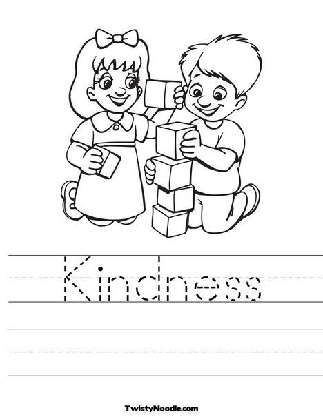 coloring pages acts of kindness - kindness coloring page journey kids pinterest worksheets sunday school and school