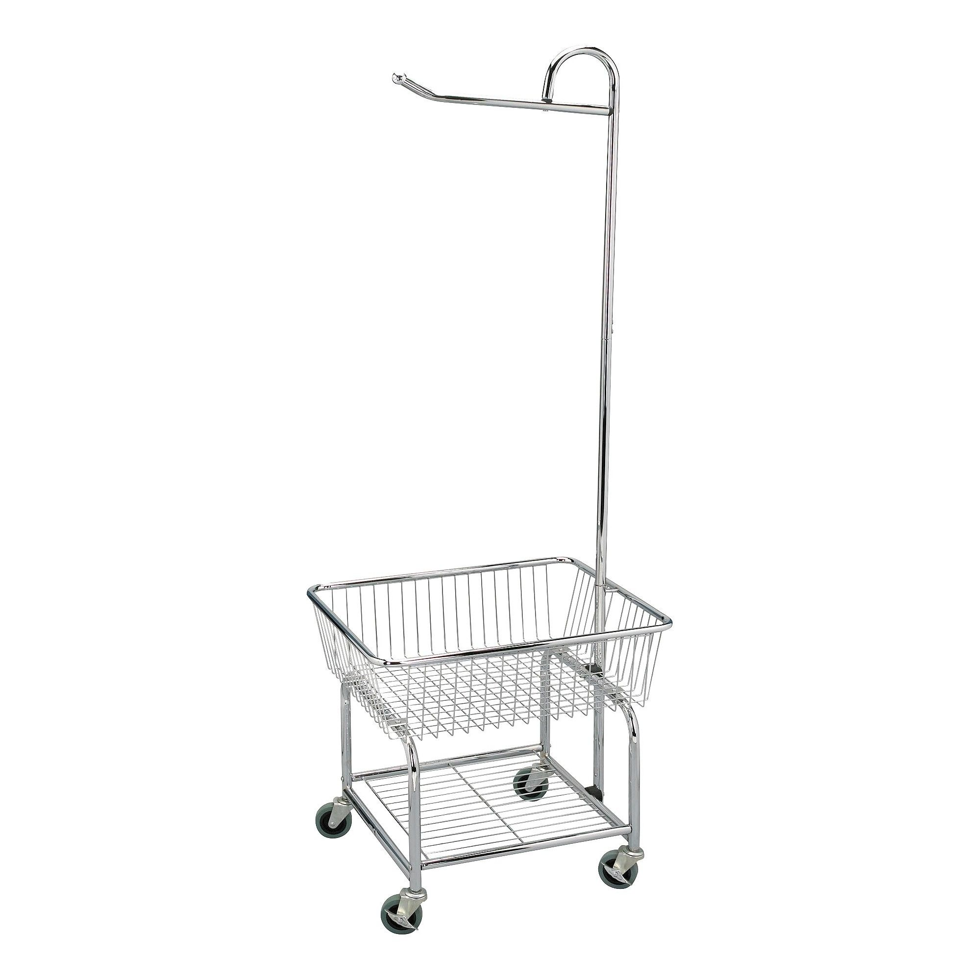 Household Essentials Chrome Laundry Cart Commercial Chrome