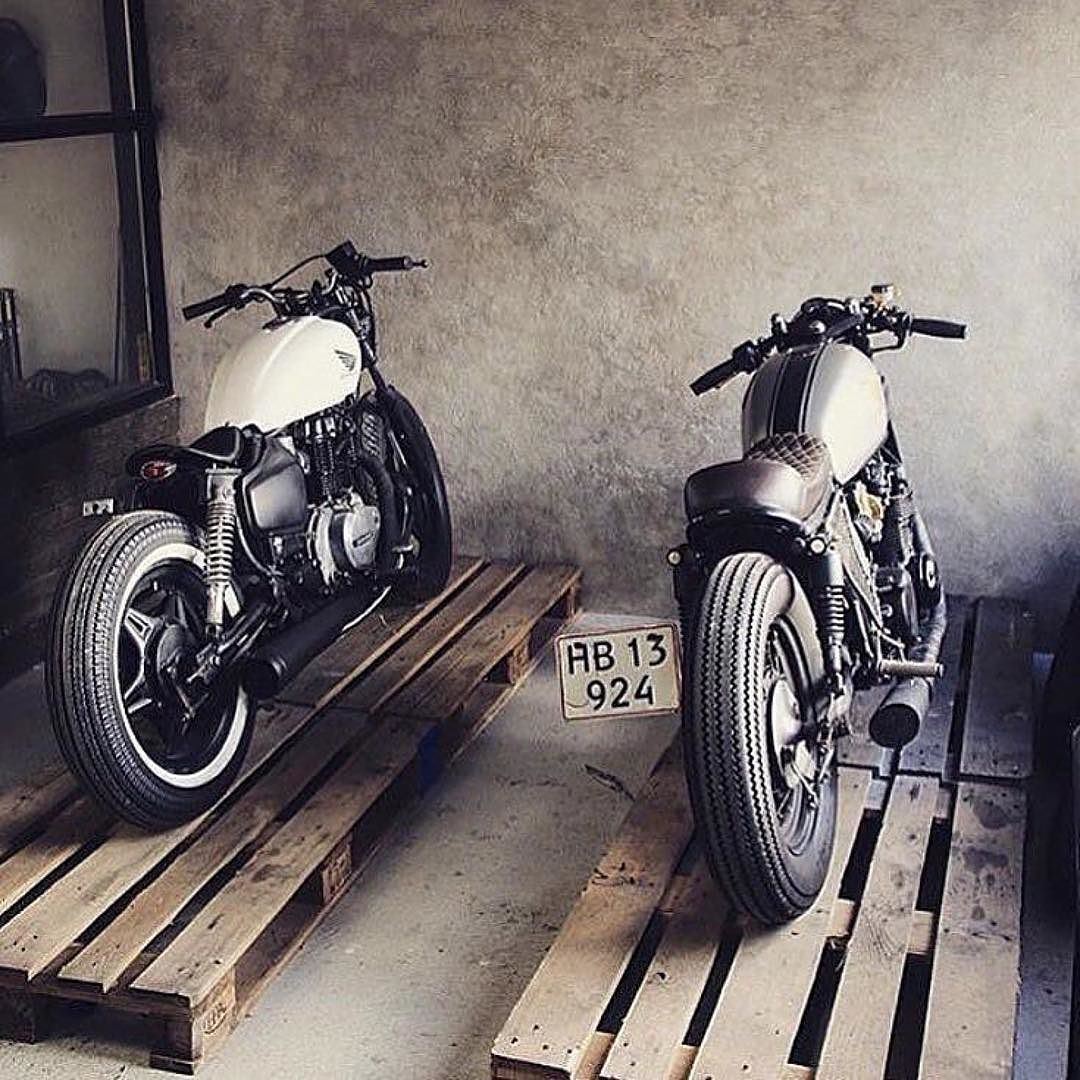 #Twins from @caferaceraustralia I think this qualifies us for a #twinstagram! by tobaccomotorwearco http://overboldmotor.co