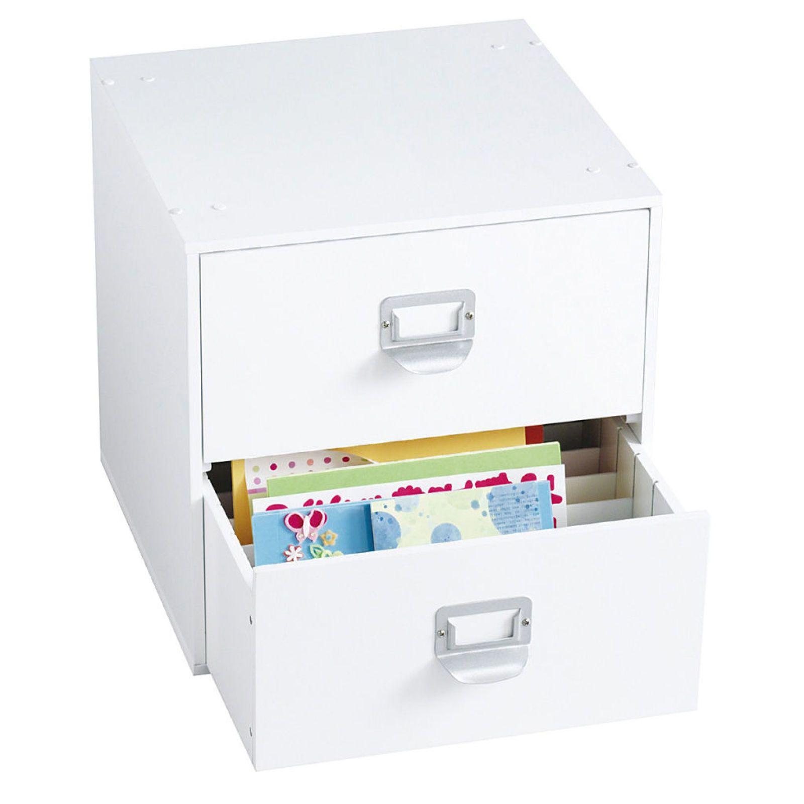 2 Drawer Cube By Ashland Craft Storage Solutions Craft Organization Craft Room Storage