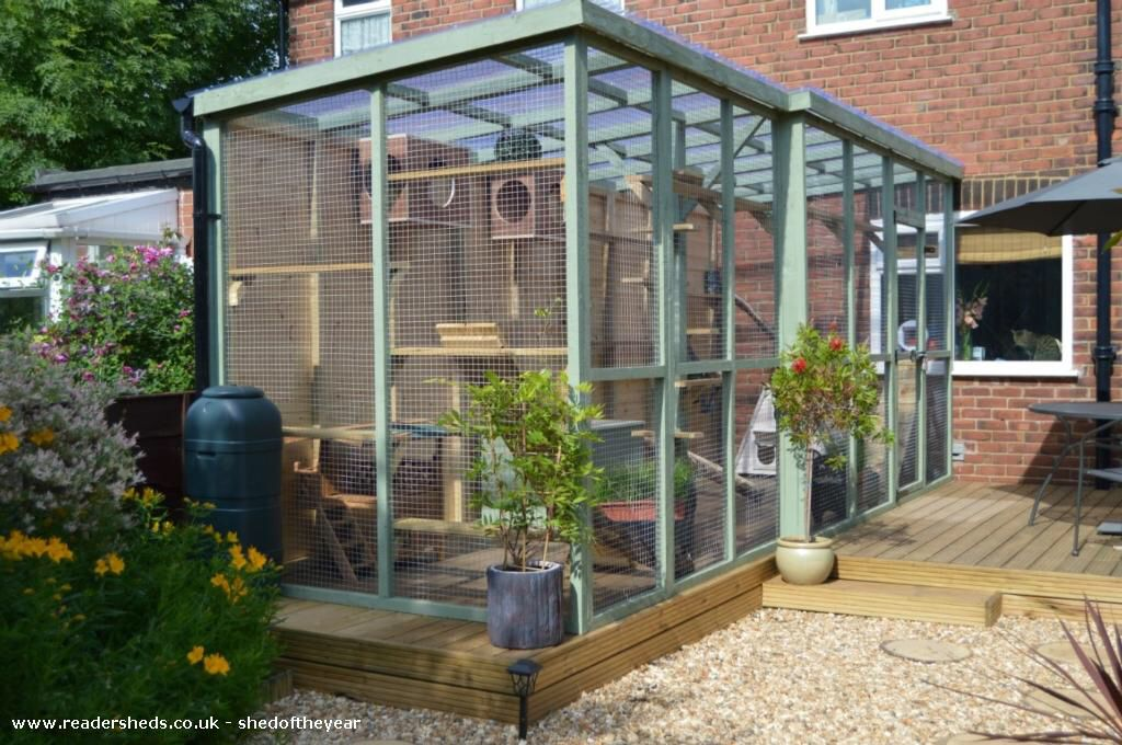 Image From Http Www Readersheds Co Uk Images Sheds New 5339 98a0c8e4 F66b E470 C673c477b432a167 1 J Outdoor Cat Enclosure Outdoor Pet Enclosure Cat Enclosure