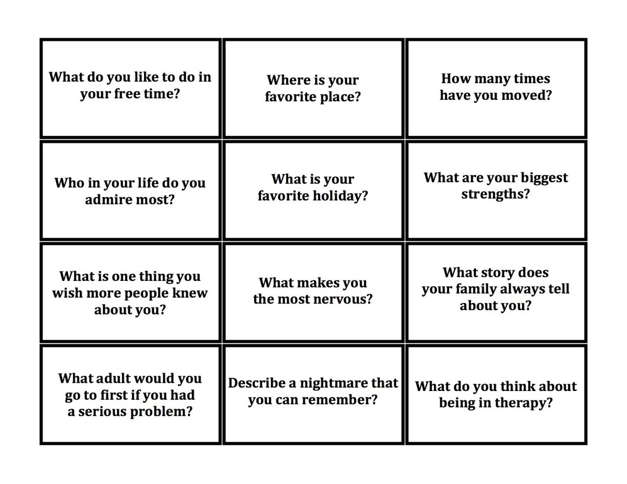 Creative Social Worker The Utic Jenga These Questions Spark A Lot Of