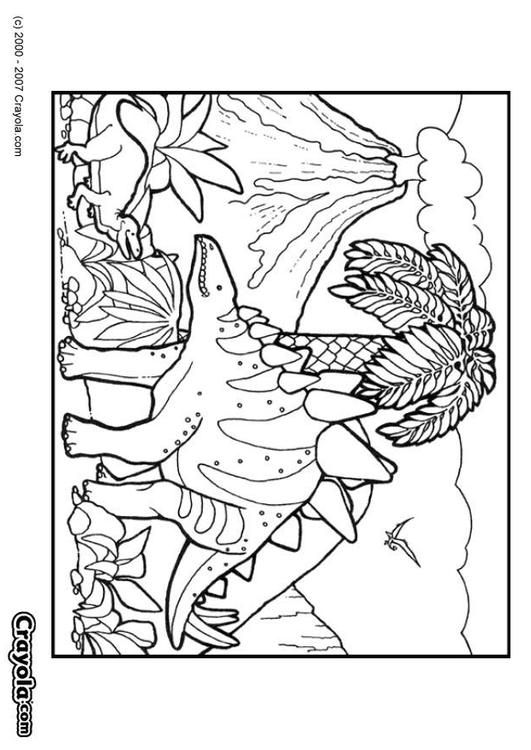 Coloring page dinosaur - coloring picture dinosaur. Free coloring ...