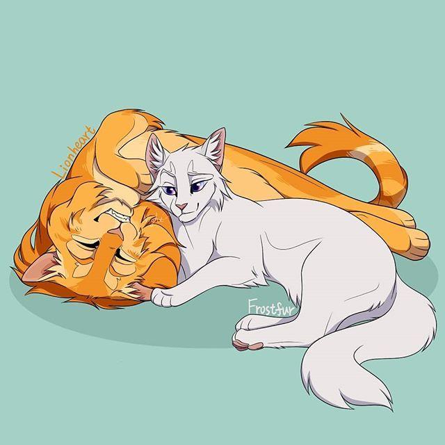 Lionheart x Frostfur   Warrior cats fan art, Warrior cat drawings, Warrior  cat memes