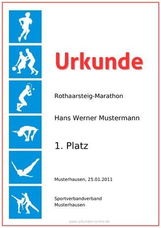 Beispiel: Muster-Urkunde-Leichtathletik | Urkunden | Pinterest