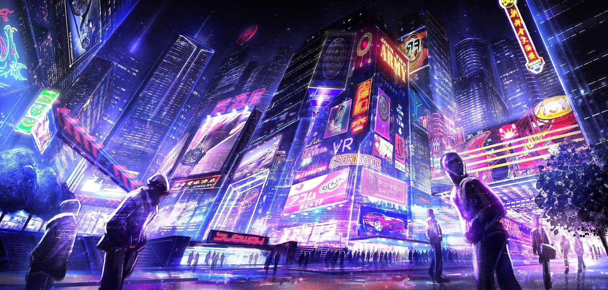 General 2000x954 cyberpunk futuristic neon Cyberpunk