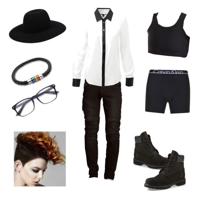 """""""Going Out As Me"""" by jesus-hates-cay on Polyvore featuring Timberland, Calvin Klein, Off-White, Bling Jewelry, RNT23 and EyeBuyDirect.com"""