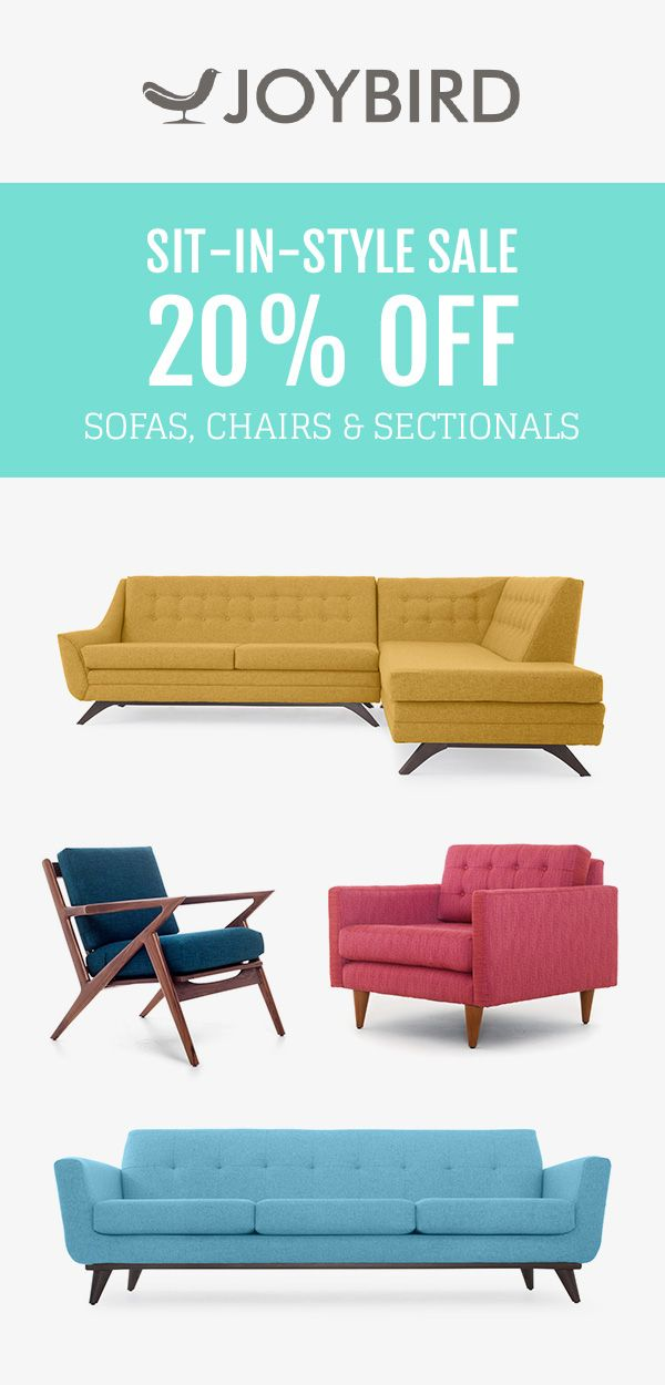 Why Be Generic When You Can Stand Out With Mid Century Modern Furniture From Joybird Save 20 On Sofas Chairs And S Joybird Furniture Joybird Furniture Sale Mid century modern furniture sales