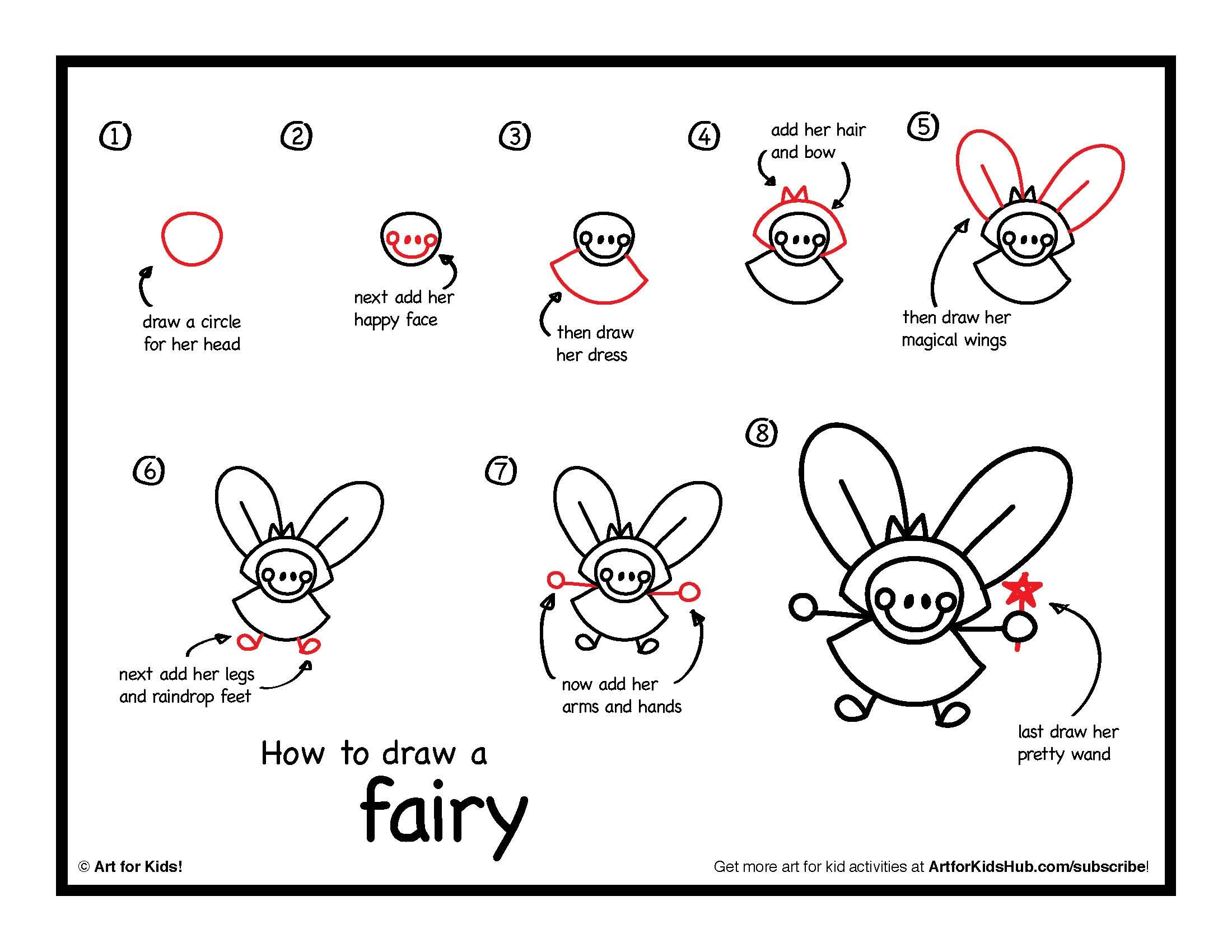 Uncategorized How To Draw A Fairy how to draw a fairy art for kids hub