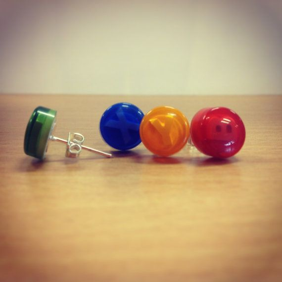 Xbox Button Stud Earrings