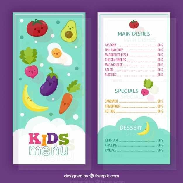 Fun Kids Menu For Restaurant Free Kids Menu Menu Restaurant Menu