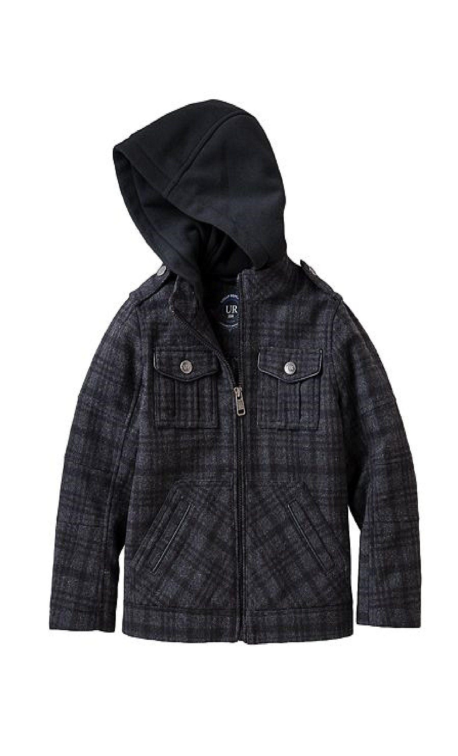 8af6c925c6a3 Urban Republic Little Boys Hooded Dressy Classic Wool Blend Padded ...